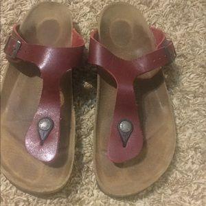 Red Birkenstock Sandals size 9